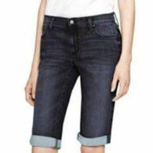 DKNY Ludlow Distressed Bermuda Cut Off Shorts NEW